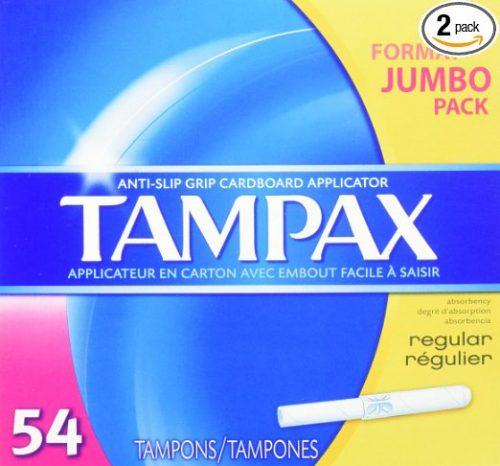 Tampax Cardboard Applicator Tampons, Regular Absorbency
