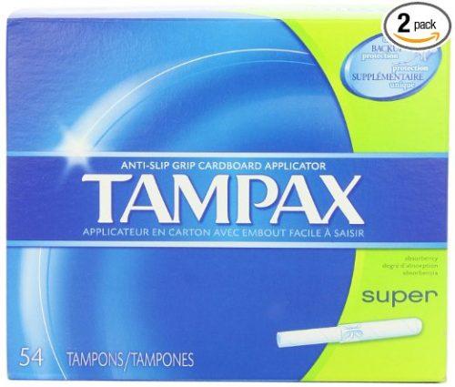 Tampax Cardboard Applicator Tampons, Super Absorbency